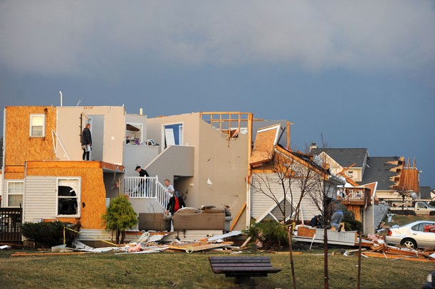A tornado that hit Huron Farms neighborhood in Dexter, Mich. on March 15, 2012. Angela J. Cesere | AnnArbor.com