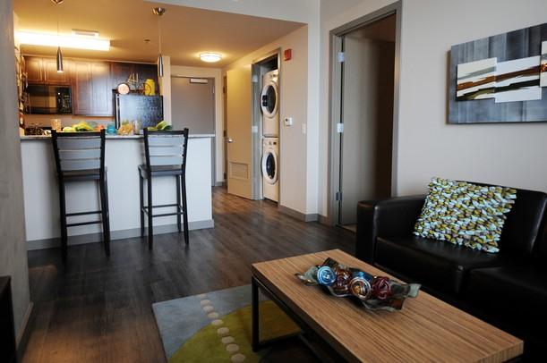 First glance inside ann arbor 39 s newest high rise the varsity for Apartment inside