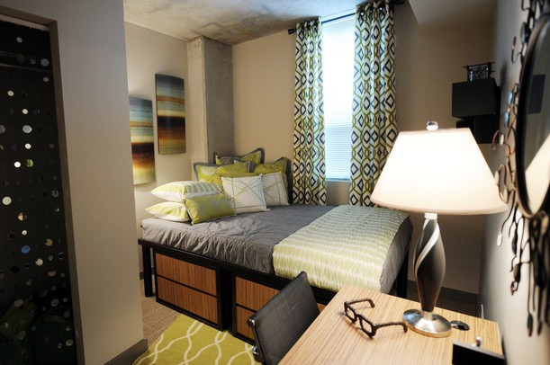 A Bedroom In A Two Bedroom, Two Bathroom Apartment At The Varsity, Located  At 425 E. Washington. Melanie Maxwell | AnnArbor.com ...