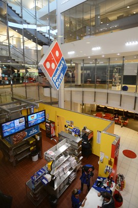 A Domino's Pizza store, which also functions as a training facility, is planted in the middle of the company's headquarters. Melanie Maxwell I AnnArbor.com