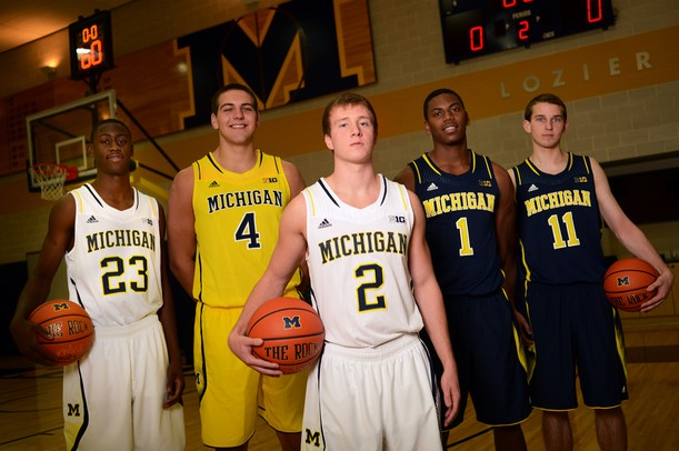 images from the michigan mens basketball teams media day