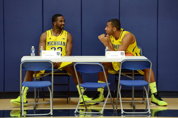 Images from the Michigan men's basketball team's media day