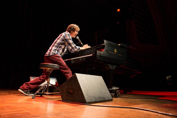 Ben Folds plays a solo concert at the University of Michigan's Hill Auditorium Thursday, April 11.