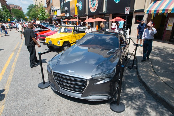 The Hyundai Genesis concept car at the Rolling Sculpture Car Show in downtown Ann Arbor, Friday, July 12.