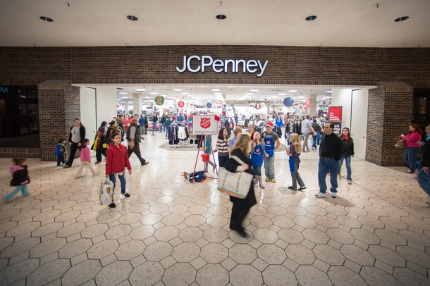 JCPenney in the Briarwood mall as shoppers come and go this past Black Friday.