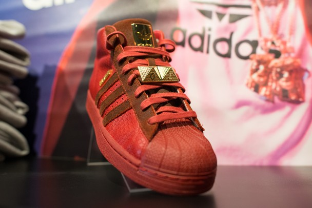 The Big Sean Adidas Originals Pro Model II on display at Puffer Reds in Ypsilanti Saturday morning.