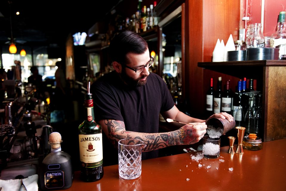 Alley Bar Bartender David Martinez Creates A   Bartender Skills