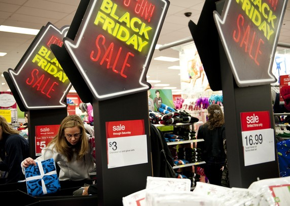 Black Friday First In Line Shoppers Race Into Ann Arbor