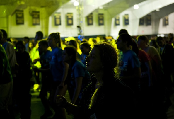 The Dance Marathon at the University of Michigan at the Indoor Track and Field Building on Sunday, April 7. Daniel Brenner I AnnArbor.com