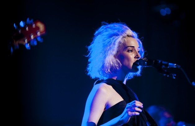 St. Vincent begins to sing the first song at Michigan Theater on Monday, July 8. Daniel Brenner I AnnArbor.com