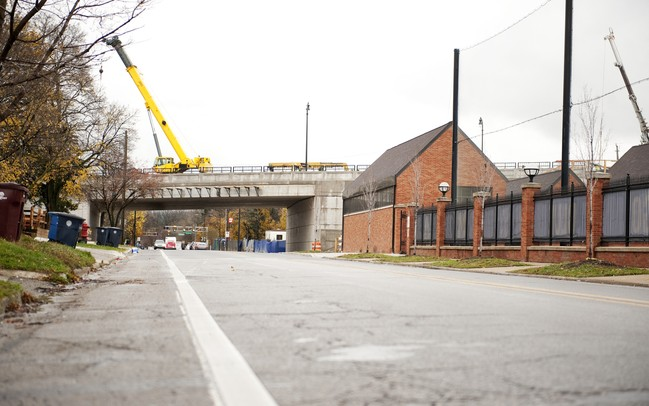 The nearly completed East Stadium bridge on Monday. Daniel Brenner I AnnArbor.com