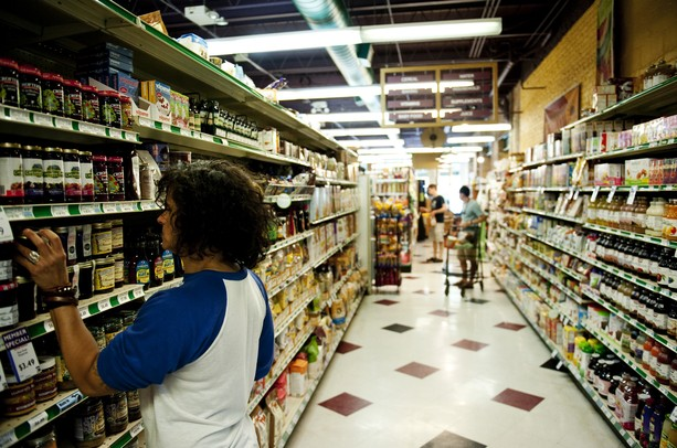 Shoppers pick out groceries at People's Food Co-op on Fourth Street on Sunday, June 23. Daniel Brenner I AnnArbor.com