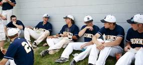 The Saline High School team in between games against Pioneer on Monday, May 20. Daniel Brenner I AnnArbor.com