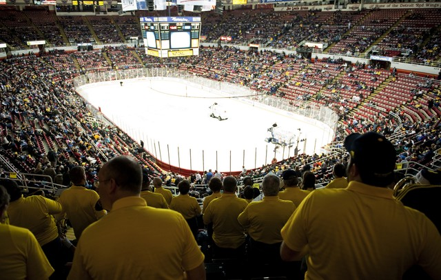 The Michigan Alumni Band at Joe Louis Arena on Saturday, Dec. 29. Daniel Brenner I AnnArbor.com