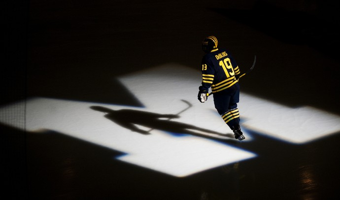 Michigan junior right wingman Derek DeBlois skates before the CCHA championship game against Notre Dame on Sunday, March 24. Michigan lost 3-1.Daniel Brenner I AnnArbor.com