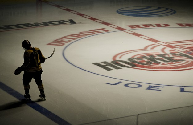 Michigan senior center Kevin Lynch skates near center ice before the game against Michigan State at Joe Louis Arena on Saturday, Feb. 2. Daniel Brenner I AnnArbor.com