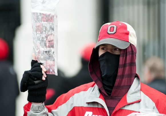 Dave Bruewer sells programs before the game between Michigan and Ohio State on Saturday. Daniel Brenner I AnnArbor.com