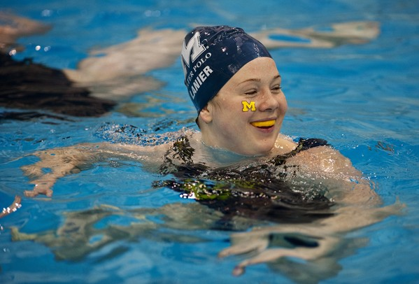 Michigan freshman Barbara Lanier warms up before the Collegiate Water Polo Association Final against Princeton on Sunday, April 28. Daniel Brenner I AnnArbor.com