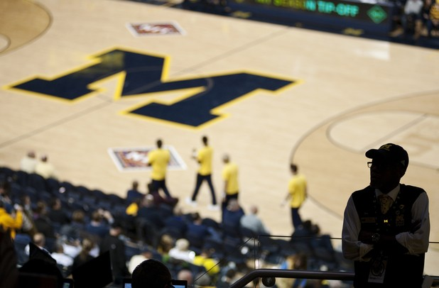 An usher before the start of the game between Michigan and IUPUI on Monday. Daniel Brenner I AnnArbor.com