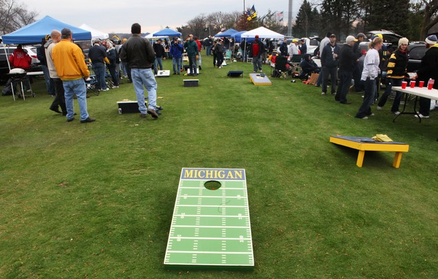Cornhole boards are found all over tailgating areas prior to the University of Michigan, Nebraska football game at Michigan Stadium Saturday November 19, 2011. Jeff Sainlar I AnnArbor.com