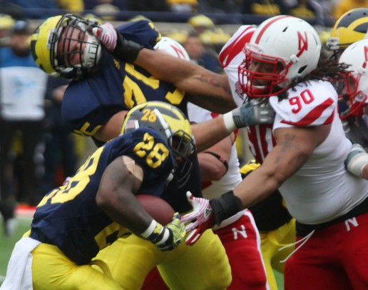 Images from Michigan football team's 45-17 victory against ...
